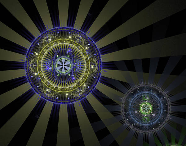 Fractal Poster featuring the digital art Enlightenment by David April