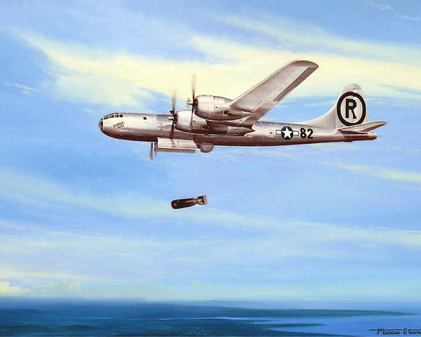 Military Poster featuring the painting Enola Gay by Marc Stewart