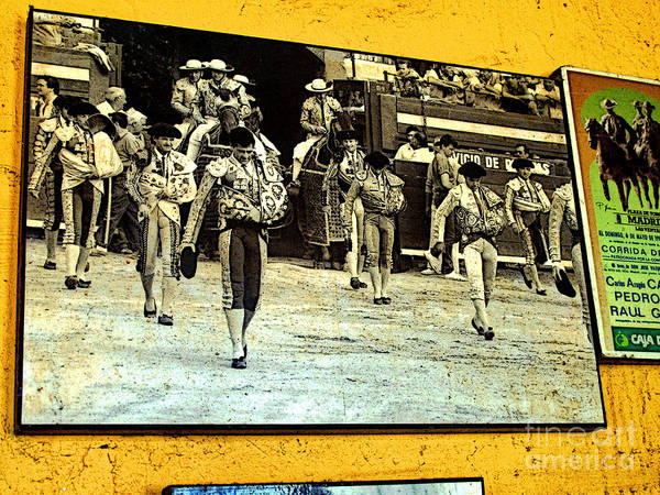 Bullfighter Poster featuring the photograph Entering The Ring by Mexicolors Art Photography