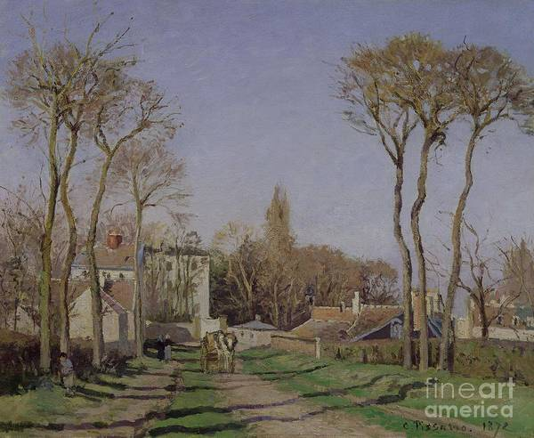 Entrance Poster featuring the painting Entrance To The Village Of Voisins by Camille Pissarro