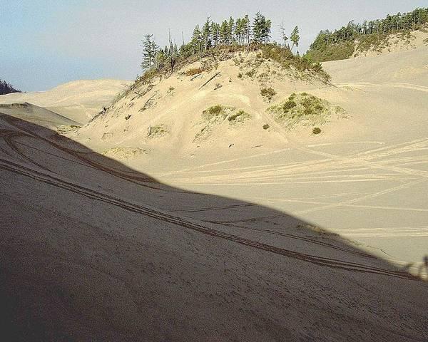 Oregon Dunes National Recreation Area Poster featuring the photograph Ephemeral by Eike Kistenmacher