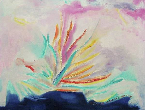 Pastel Poster featuring the painting Eruption by Suzanne Marie Leclair
