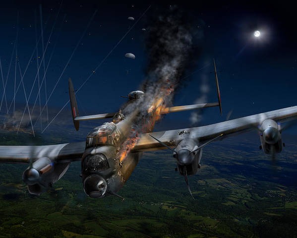Avro Lancaster Poster featuring the digital art Escape At Mailly by Gary Eason