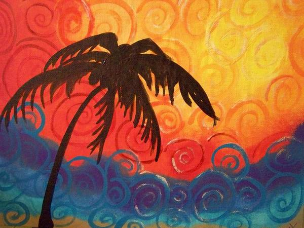 Colorful Poster featuring the painting Escape by Patti Spires Hamilton