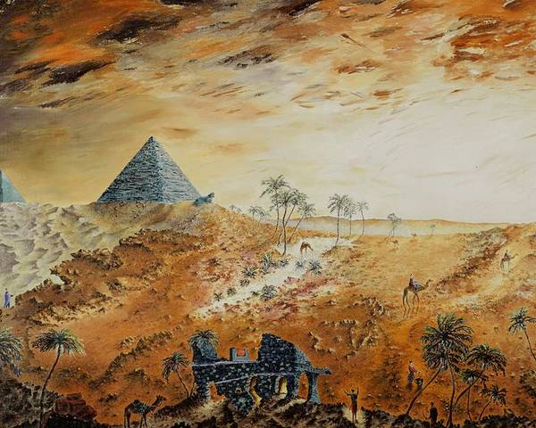 Egypt Poster featuring the painting Eternity by Richard Barham
