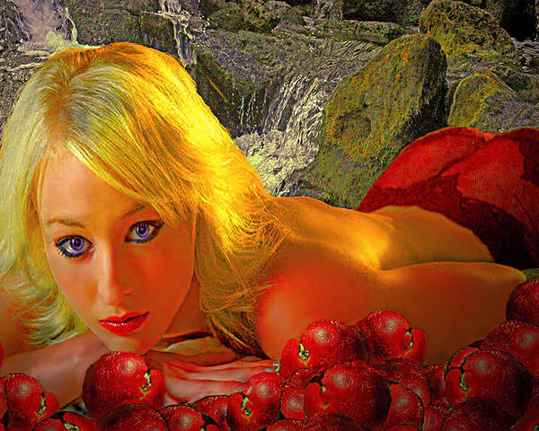 Apple Poster featuring the photograph Eve In The Garden by Jeff Burgess