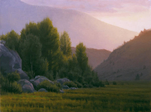 Landscape Poster featuring the painting Evening Grace by Joe Mancuso