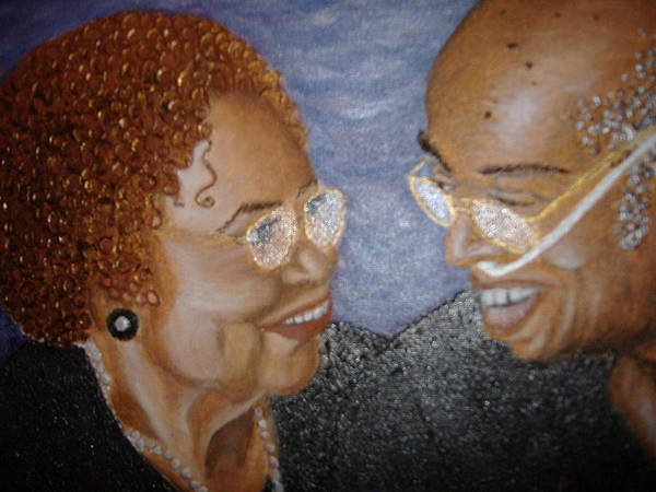 Acrylic Poster featuring the painting Everlasting Love by Keenya Woods