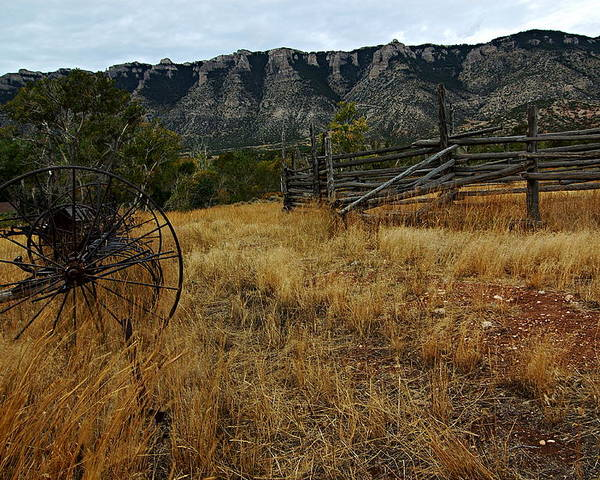 Bighorn Canyon National Recreation Area Poster featuring the photograph Ewing-snell Ranch 2 by Larry Ricker