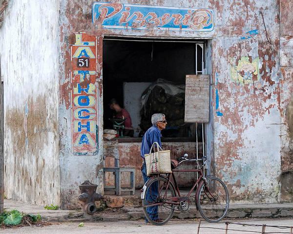 Camaguey; Cuba; Havanna; Habana; Kuba; Pizzeria Poster featuring the photograph Ex-pizzeria In Camaguey by Marie Schleich
