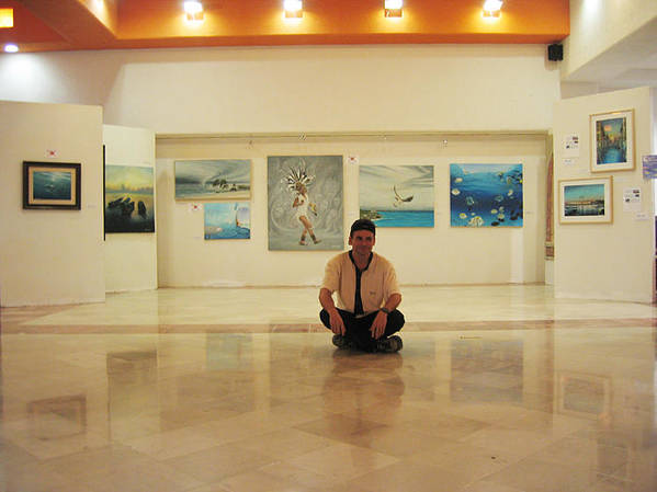 Poster featuring the photograph Exhibition Pza. Pelicanos by Angel Ortiz