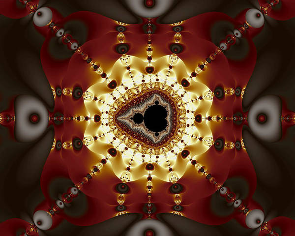 Abstract Poster featuring the digital art Exiled Mandelbrot No. 9 by Mark Eggleston