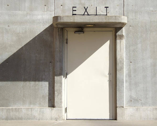 Exit Poster featuring the photograph Exit by Mike McGlothlen