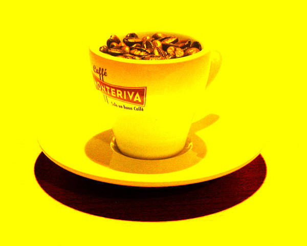 Cafe Poster featuring the photograph Expresso.piccolo.giallo by Robert Litewka
