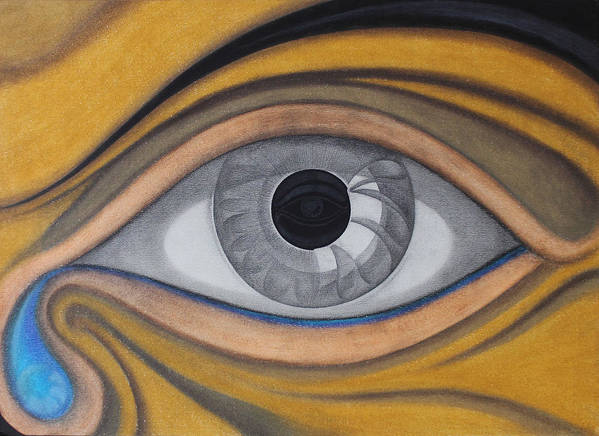 Eye Poster featuring the painting Eye by Andre Pinheiro