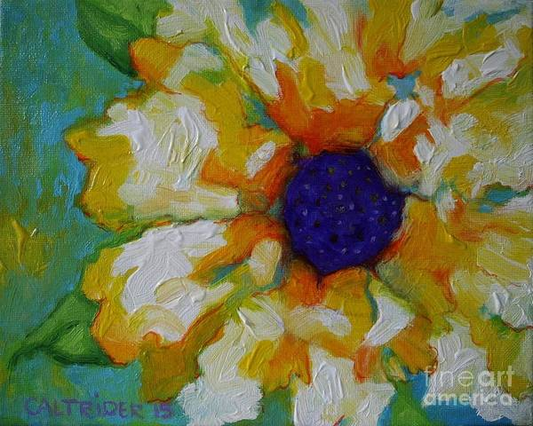 Flower Poster featuring the painting Eye Of The Flower by Alison Caltrider