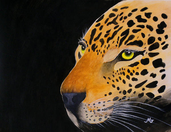 Leopard Poster featuring the print Eyes Of Prey by Mary Gaines