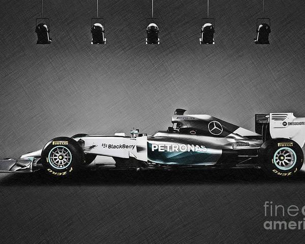 "MERCEDES BENZ W05 FORMULA 1 F1 RACE Cars Silk Cloth Art Poster Print 24x36/"""