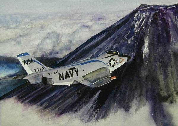 Airplane Poster featuring the painting F3b Demon by Dwight Williams