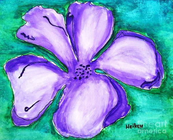 Painting Poster featuring the painting Fabulous Flower by Marsha Heiken
