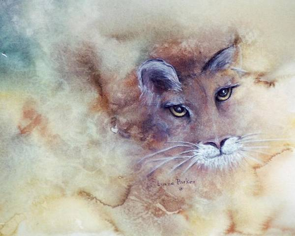 Cougar Face Poster featuring the painting Face With In by Lynne Parker