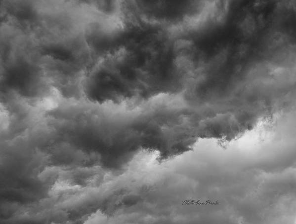 Clouds Poster featuring the photograph Faces In The Mist Of Chaos by ChelleAnne Paradis