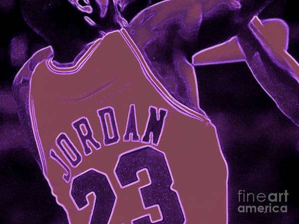 Jordan Poster featuring the digital art Fade Away by Brandon Ramquist