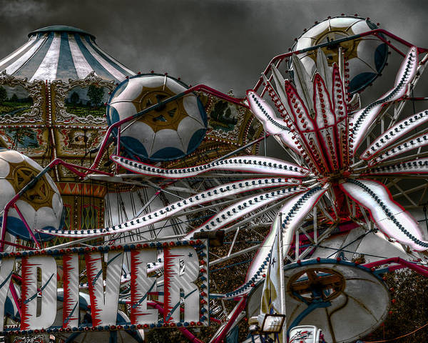Fair Poster featuring the photograph Fairground Rides by Wayne Sherriff