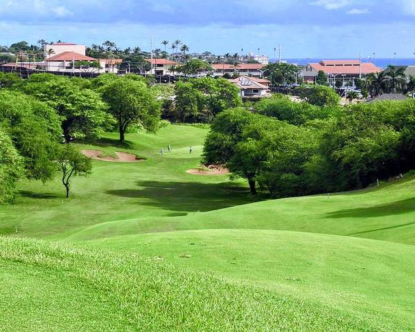 Golf Courses Poster featuring the photograph Fairway At Dunes Of Maui Lani by Kirsten Giving