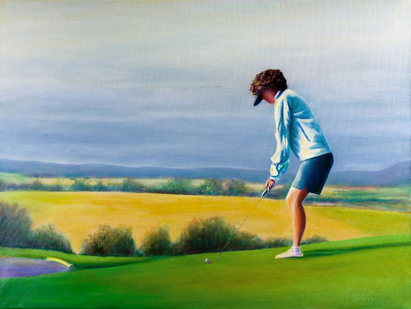 Golfer Poster featuring the painting Fairy Golf Mother by Shannon Grissom