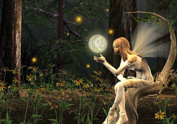 Fairy Fae Fairies Magic Fantasy Poster featuring the digital art Fairy Light by Lisa Roy