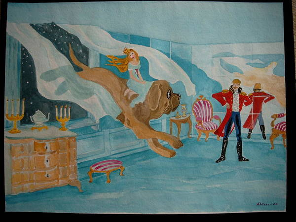 Poster featuring the painting fairy tale H.C. Andersen by Antje Wieser