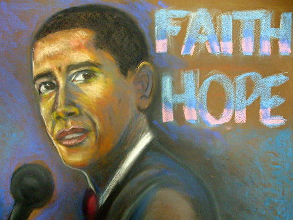 Poster featuring the drawing Faith And Hope by Jan Gilmore