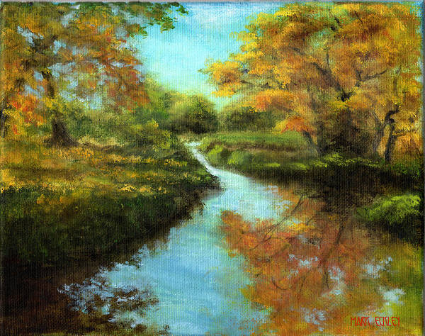 Landscape Poster featuring the painting Fall Colors by Mark Eckley