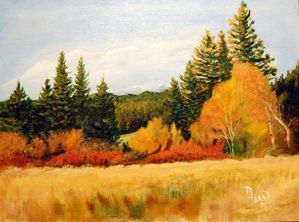 Landscape Poster featuring the painting Fall In Chattaroy by Mark Farr