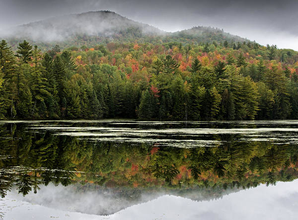Fall Poster featuring the photograph Fall Reflections In The Adirondack Mountains by Brendan Reals