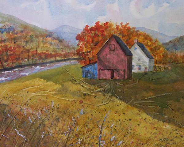 Fall Sun Poster featuring the painting Fall Sun by Robert Harrington