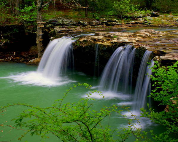 Waterfalls Poster featuring the photograph Falling Water Falls by Marty Koch