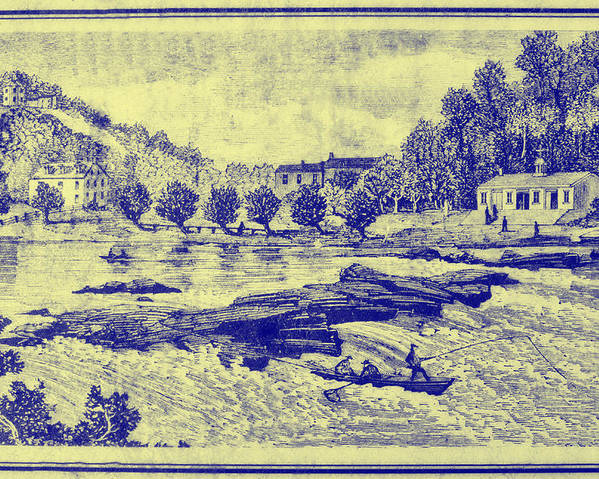 Falls Poster featuring the photograph Falls Of The Schuylkill And Fort St Davids 1794 by Bill Cannon