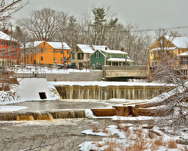 Exeter New Hampshire Poster featuring the photograph Falls on Exeter River by Diana Nault