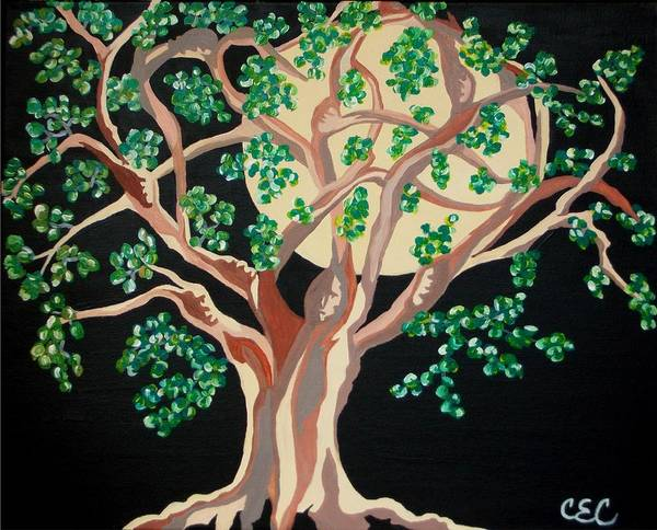 Tree Poster featuring the painting Family Tree by Carolyn Cable