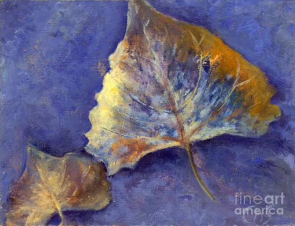 Leaves Poster featuring the painting Fanciful Leaves by Chris Neil Smith