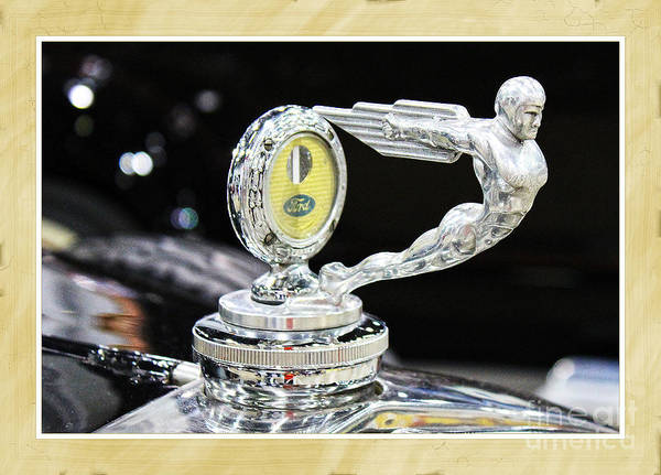 Car Poster featuring the photograph Fancy Framed Hood Ornament by Anna Sheradon