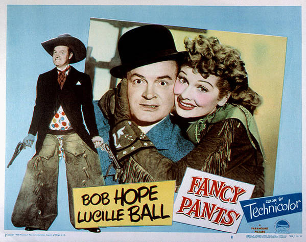 1950 Movies Poster featuring the photograph Fancy Pants, Bob Hope, Lucille Ball by Everett