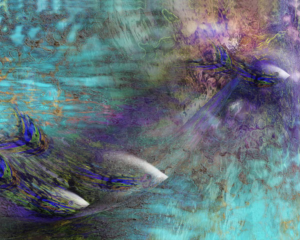 Fish Water Ocean Poster featuring the digital art Fantasy Fish by Gae Helton