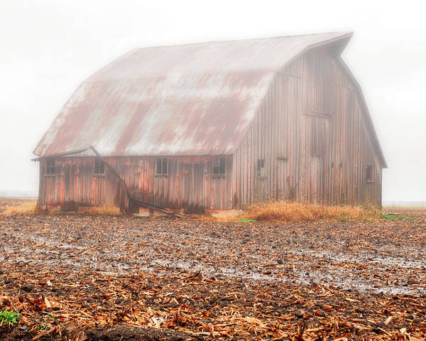 Barn Poster featuring the photograph Farm Barn by Carlton Cates