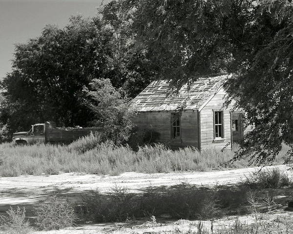 Farm Poster featuring the photograph Farm House On The Eastern Plains by Margaret Fortunato