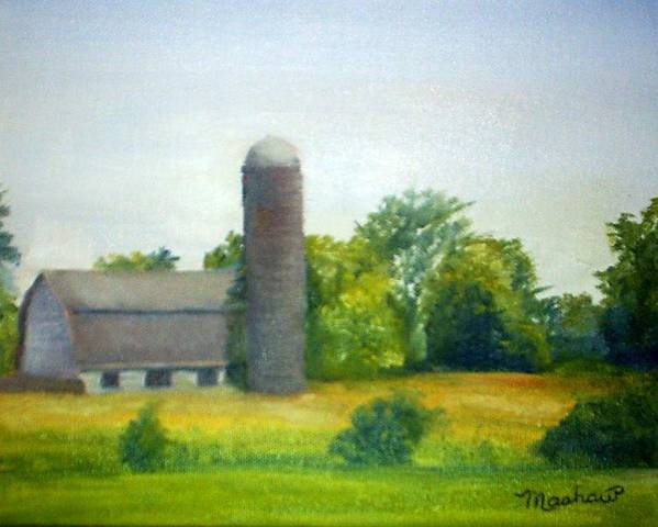 Farm Poster featuring the painting Farm in the Pine Barrens by Sheila Mashaw