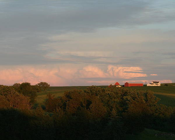 Iowa Farm Poster featuring the photograph Farm by Linda Ostby