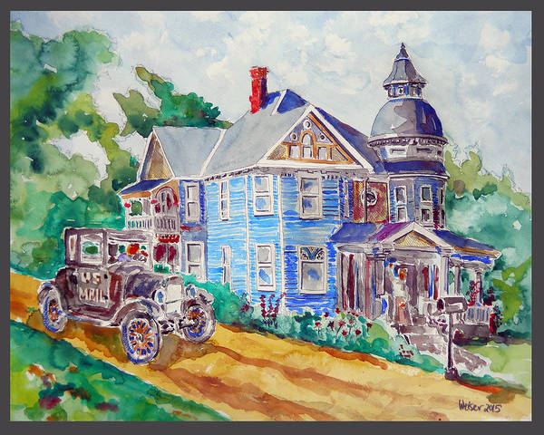 Ford Poster featuring the painting Farmhouse Near Atchison by Dennis Weiser